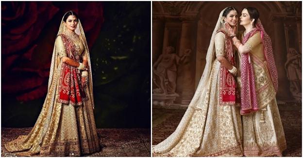 Isha Ambani used her mom's wedding saree for her bridal lehenga